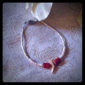 Vintage Liquid Silver w/Bird & Shell Bracelet